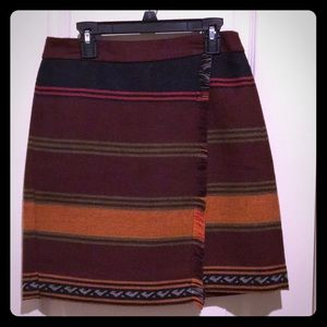 Faux wrap blanket skirt
